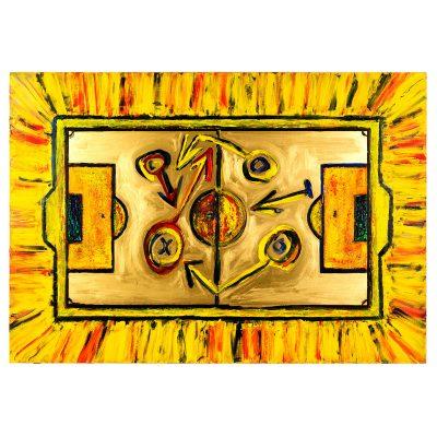 Gold Field – Cm. 129x92 - Acrylic on pvc