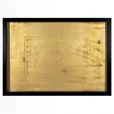 Golden Game - Cm. 125.5x88.5 - Acrylic on wood