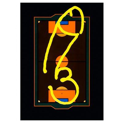 Men's Locker Nr. 2 - Cm. 152x106 - Acrylic and epoxy resin on pvc