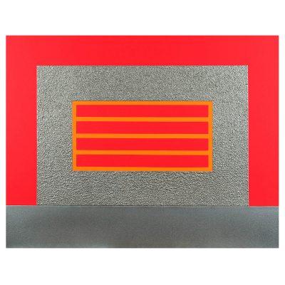 Peter Halley - Not Yet Titled - Cm 90x120 - Acrylic Day-glo Metallic - 2005