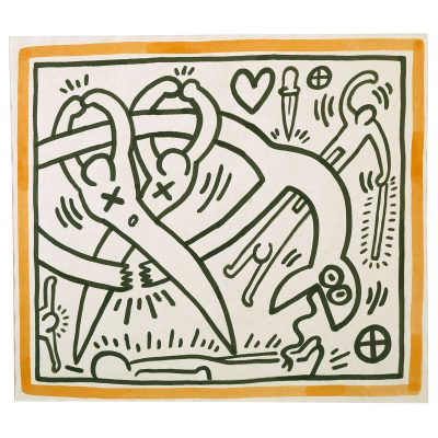Keith Haring - Untitled - Cm 64x75 - 1989