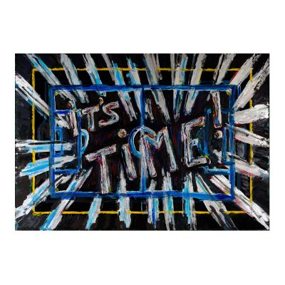 It's Time – Cm. 180x154 - Acrylic on pvc