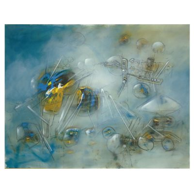 Roberto Matta -  Untitled - Cm 114x146 - Oil on Canvas - 1959