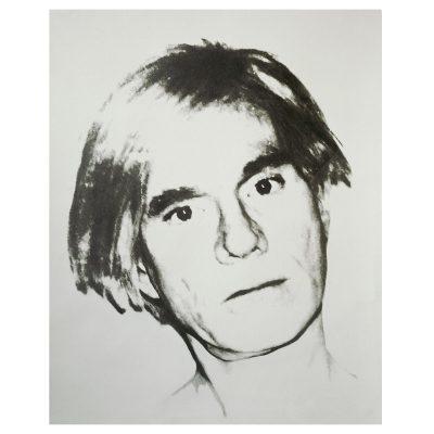 Andy Warhol - Self-Portrait - Cm 114.3x88.9 - Screenprint on Curtis Rag Paper