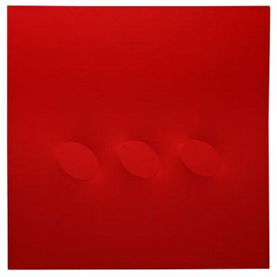 Turi Simeti - 3 ovali - Cm 80x80 - Acrylic on Canvas - 2016