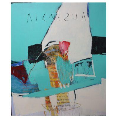 Ausencia - Inma Fierro - Cm 160x190 - Mixed Mediaand Collage on Canvas - 2014