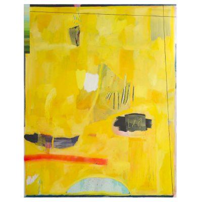 Brussels is  Yellow - Inma Fierro - Cm 140x150 - Oil on Canvas - 2017