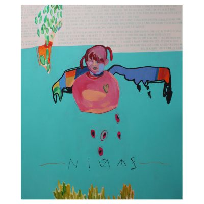 Ninez- Inma Fierro - Cm 160x190 - Mixed Media and Collage on Canvas - 2014