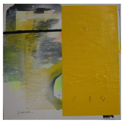 Poeta - Inma Fierro - Cm 30x30 - Mixed Media on Canvas - 2017