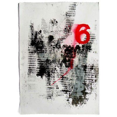 Materia - Cm. 70x50 - Handmade Paper - Serigraphy